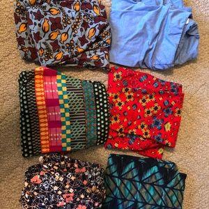Lot of 6 OS LulaRoe leggings